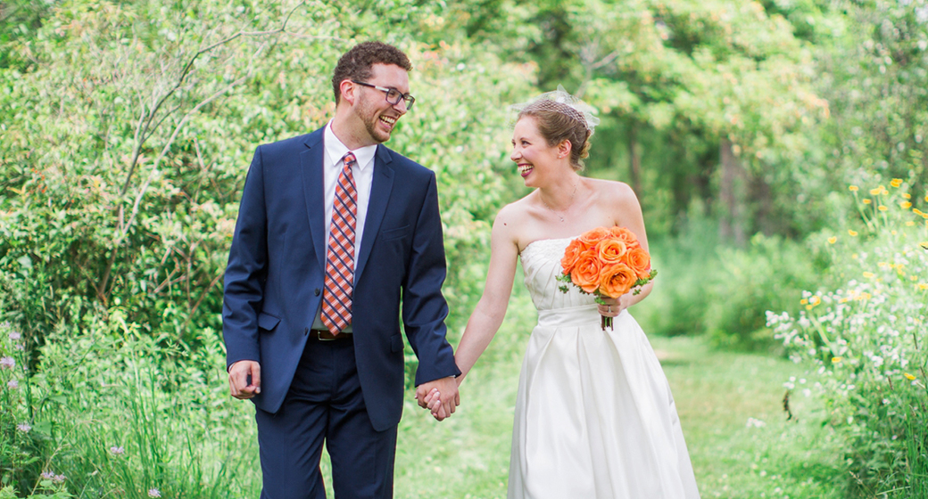 Garden Wedding at the Matthaei Botanical Gardens in Ann Arbor, Michigan
