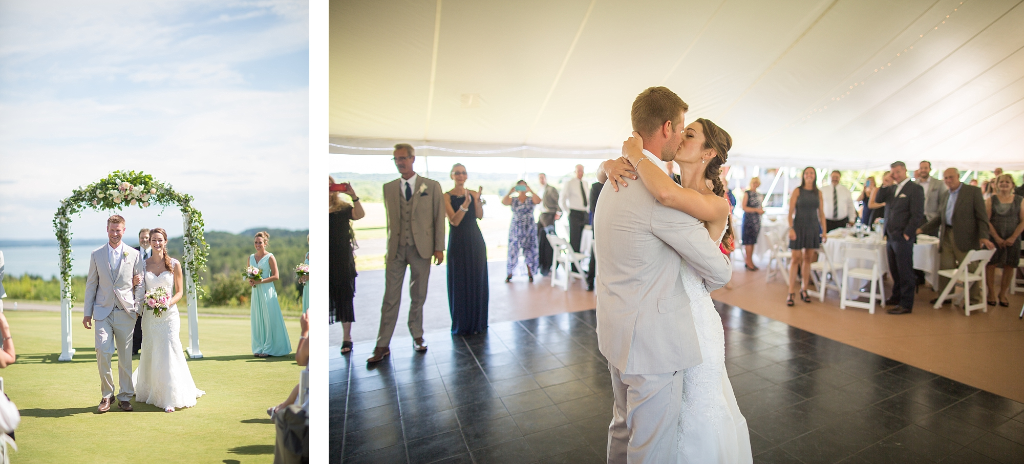 Traverse City A-Ga-Ming Golf Resort Michigan Wedding | Northern ...