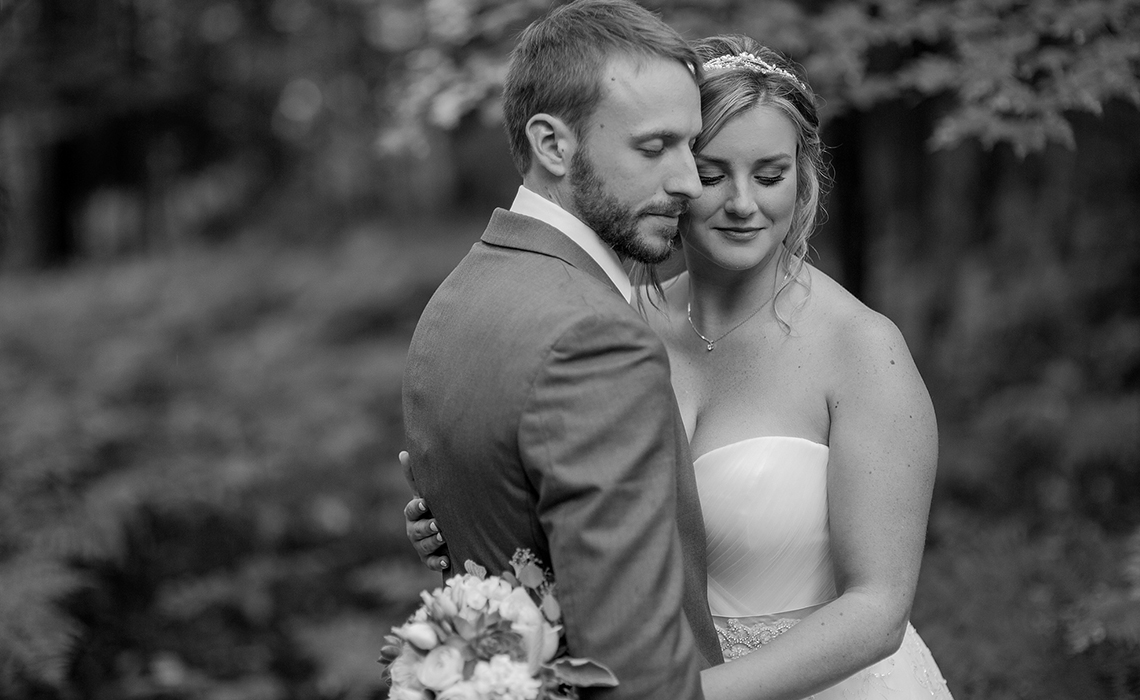 This elegant and stylish couple enjoy their bridal session at the Frog Pond Village in Interlochen, Michigan.