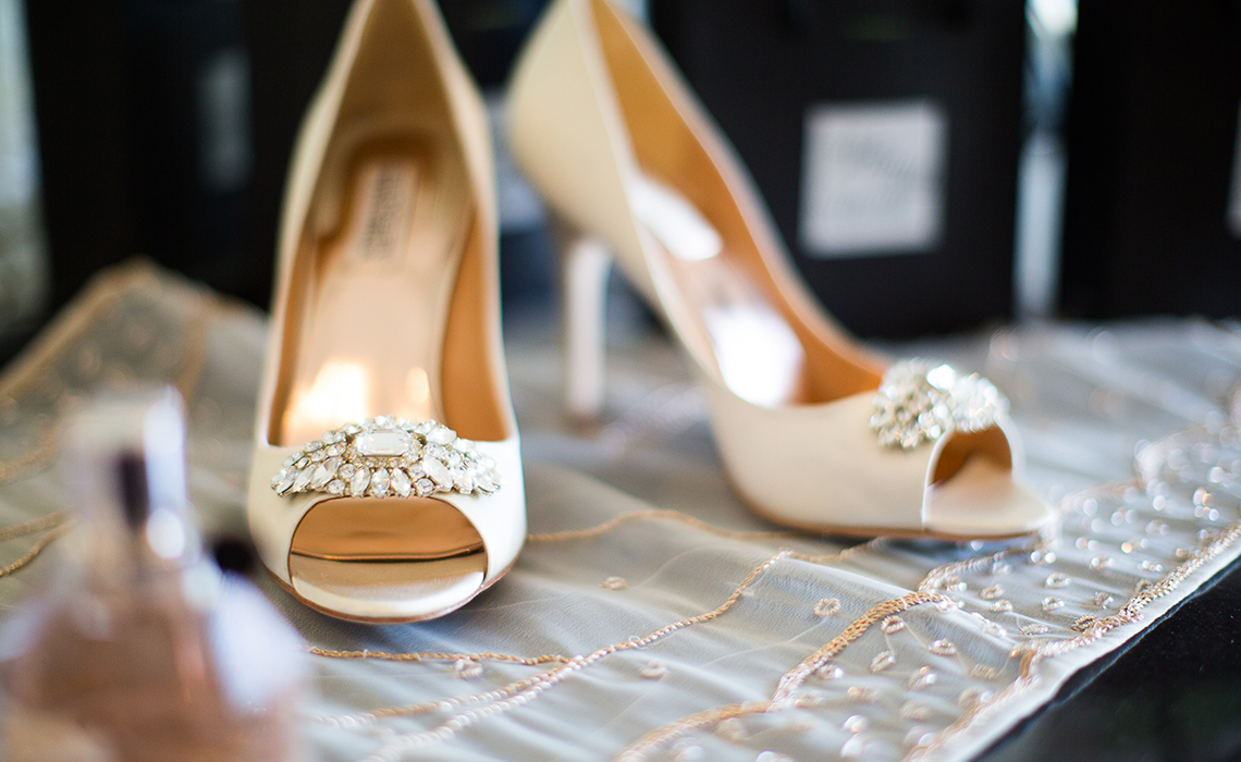 Candices Bridal Shoes before the wedding festivities